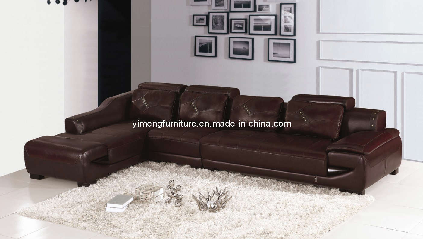Sof casero del mueble cuero de la sala de estar 9826 sof casero del mueble cuero de la Xinlan home furniture limited