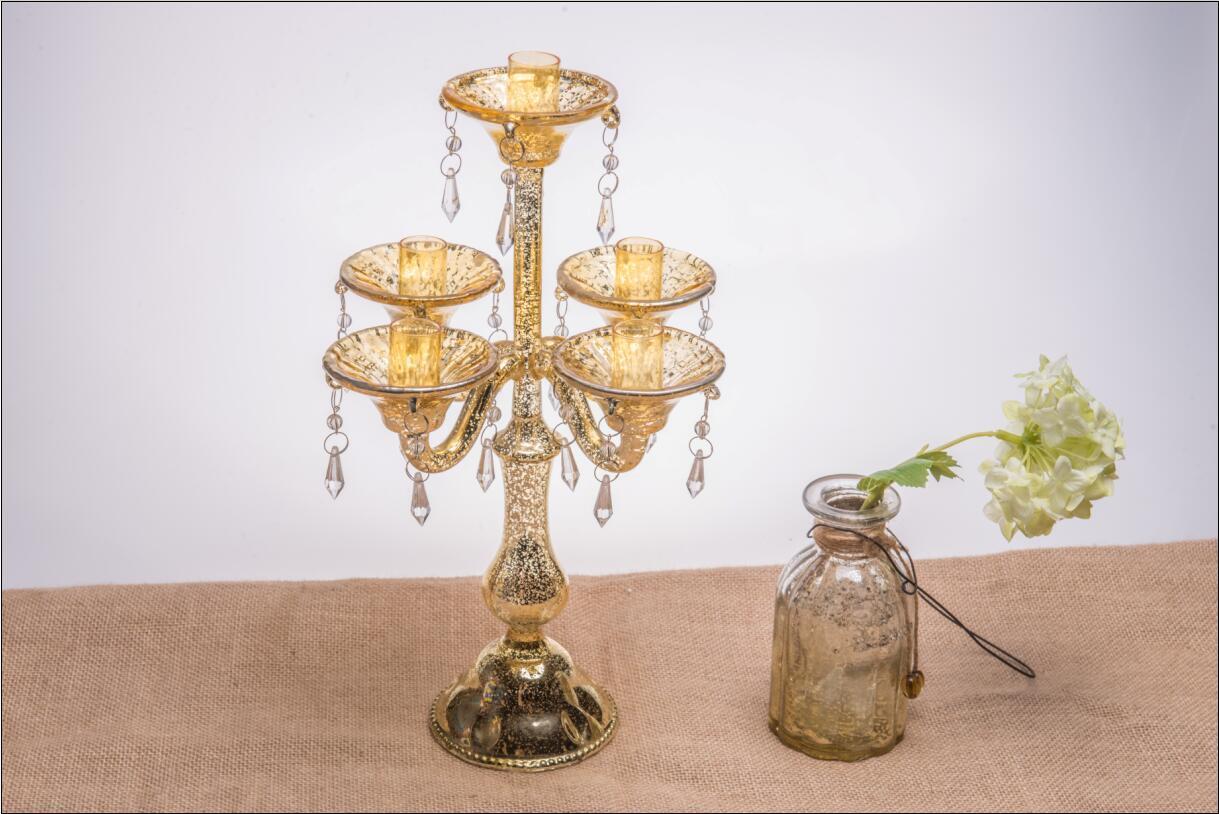 Porte bougie en verre antique pour d coration de mariage - Porte bougie en verre ...