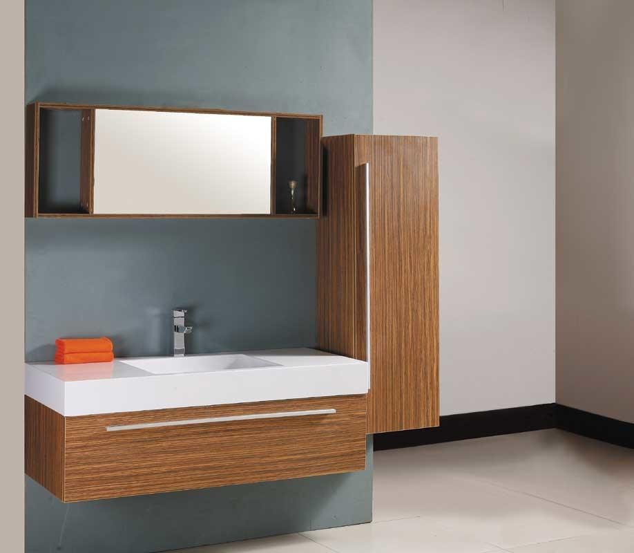 Armário de banheiro amarelo 9275 do MDF do armário do espelho do folheado –Ar -> Armario De Banheiro Mdf