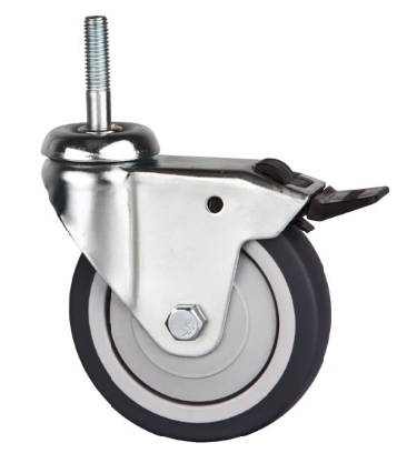 75mm l gers tige filet e pivotante avec frein roulette photo sur fr made in. Black Bedroom Furniture Sets. Home Design Ideas