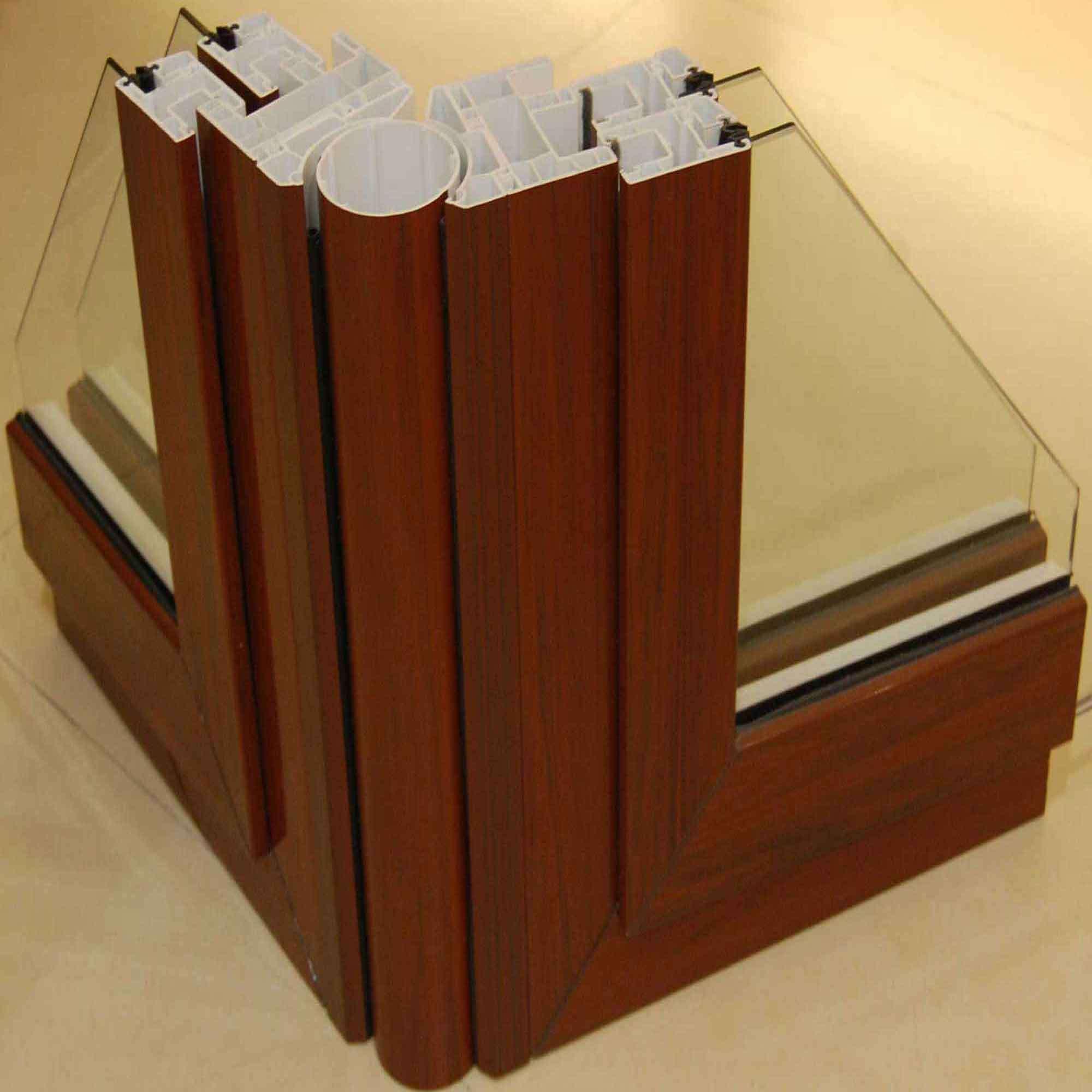 Perfil de madera del pvc de la coextrusi n perfil de for Perfiles de madera