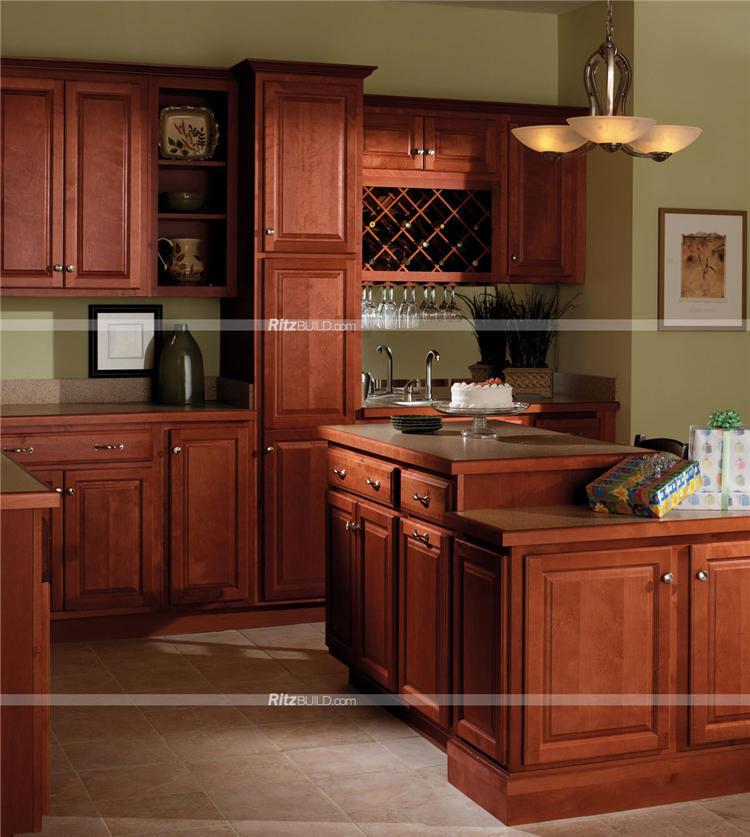 Foto de Modular Moderno Muebles Cocina con Vino de color del gabinete