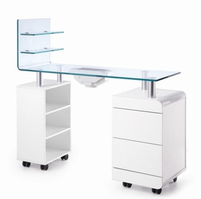 tableau coud d 39 ongle de tableau de manucure de dessus en verre tempered avec le ventilateur ce. Black Bedroom Furniture Sets. Home Design Ideas