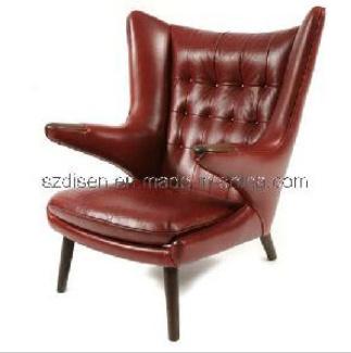 sofa en cuir moderne de chaise de salon d 39 ours de papa de hans wegner ds c159 sofa en cuir. Black Bedroom Furniture Sets. Home Design Ideas