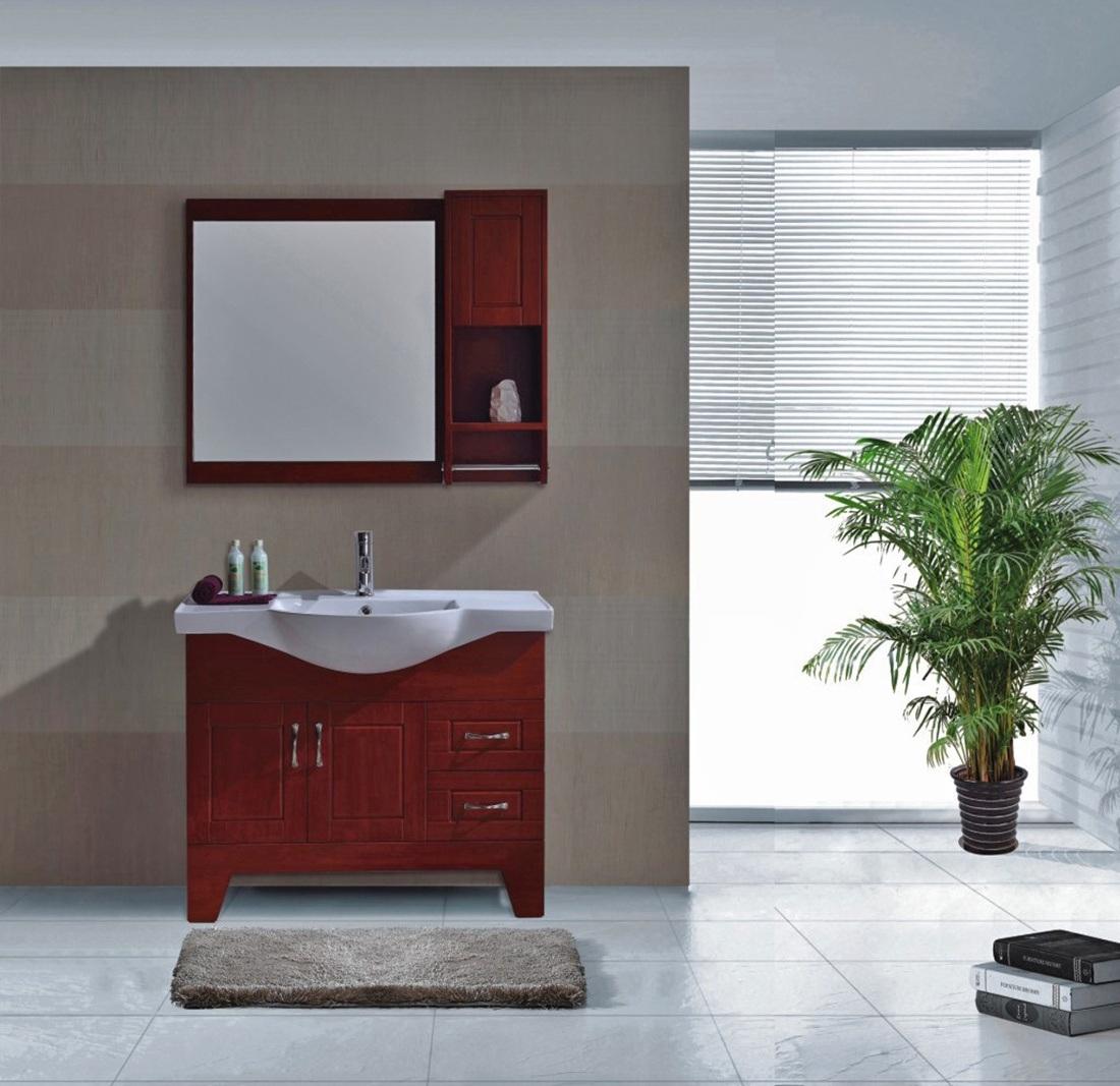 Gabinete de cuarto de ba o de madera s lida muebles for Gabinetes de madera para bano