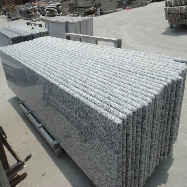 Encimera prefabricada gris china de la cocina del granito for Encimera de granito gris