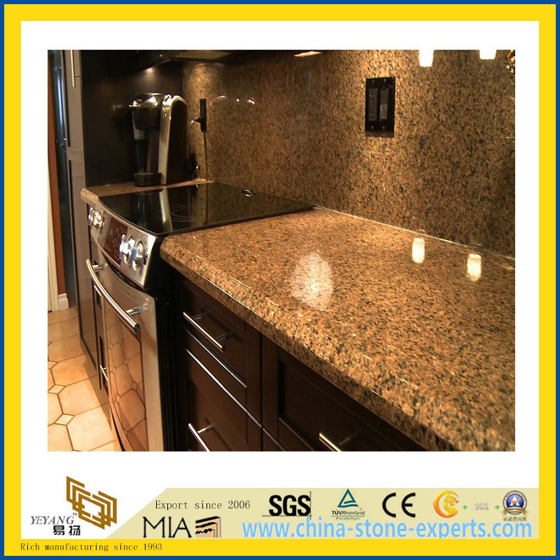 Foto de piedra natural pulido marr n b ltico granito para for Granito natural para cocinas