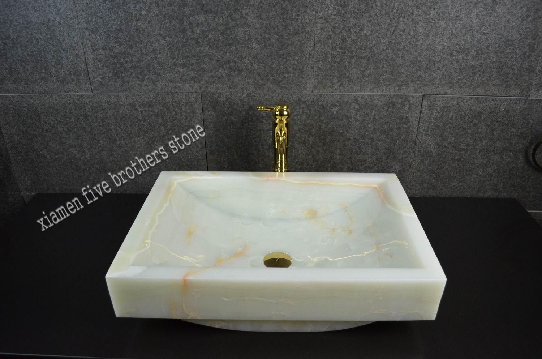 Lavabo de m rmol blanco del fregadero de la piedra del for Marmol espanol precios