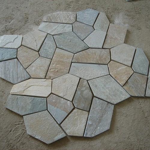 Foto de flagstone r stico da ard sia do pavimento de pedra - Pavimento rustico exterior ...