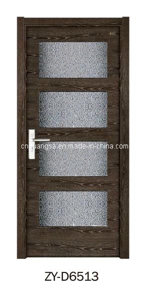 Puerta de madera interior con el vidrio puertas de madera for Puertas de madera con cristal precio