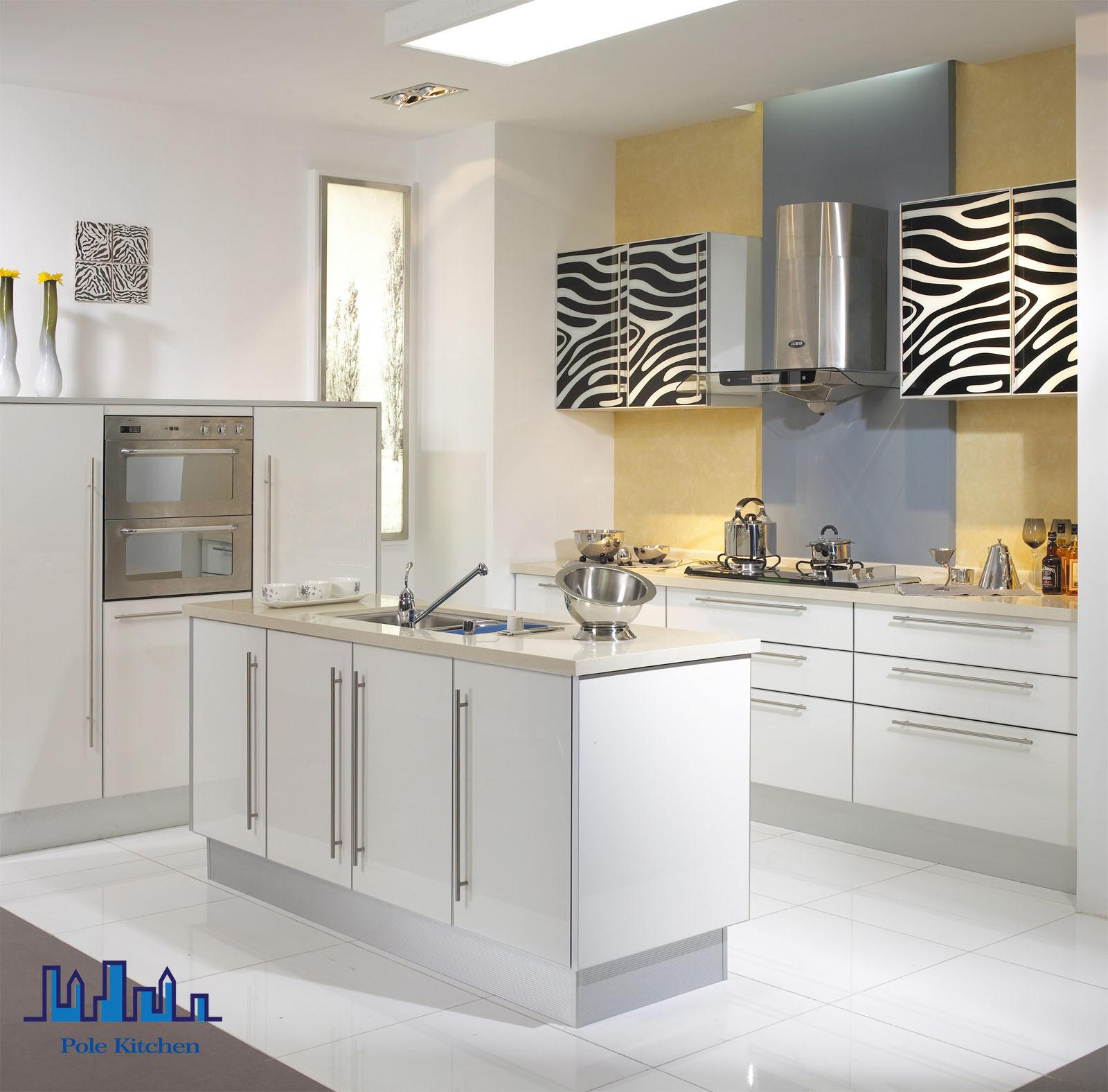 Foto de gabinete 2016 de cocina blanco del pvc de la isla for Gabinetes de cocina modernos 2016
