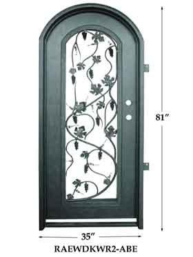 Puerta de entrada del hierro raewdkwr2 puerta de for Puertas de entrada de hierro