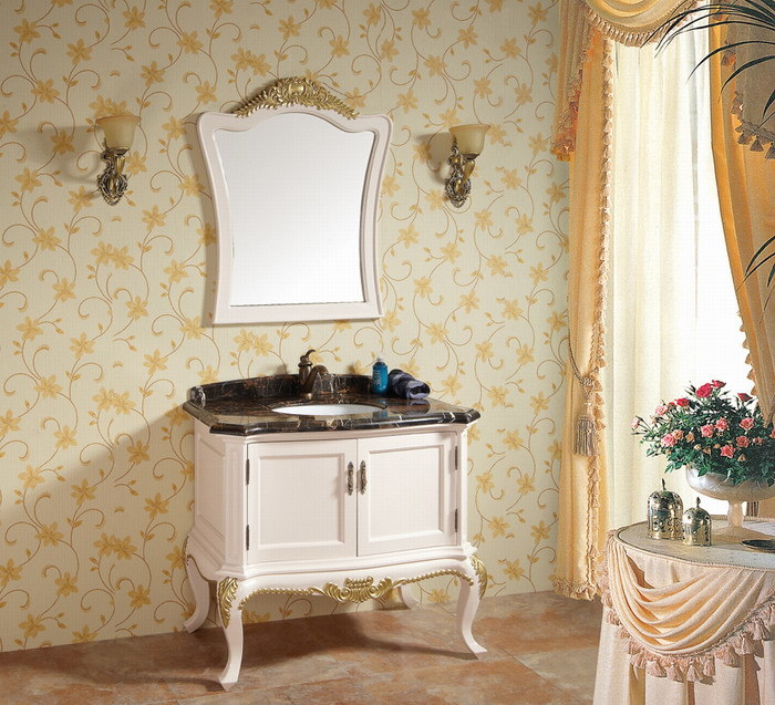 Muebles cl sicos europeos de bathroom vanity bathroom de for Muebles bano clasicos