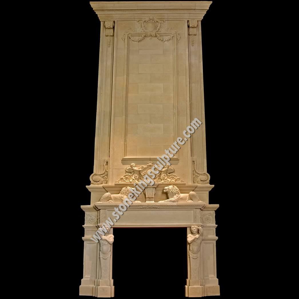 Chimenea de m rmol blanca tallada sk 21888 chimenea de for Piedra marmol blanca