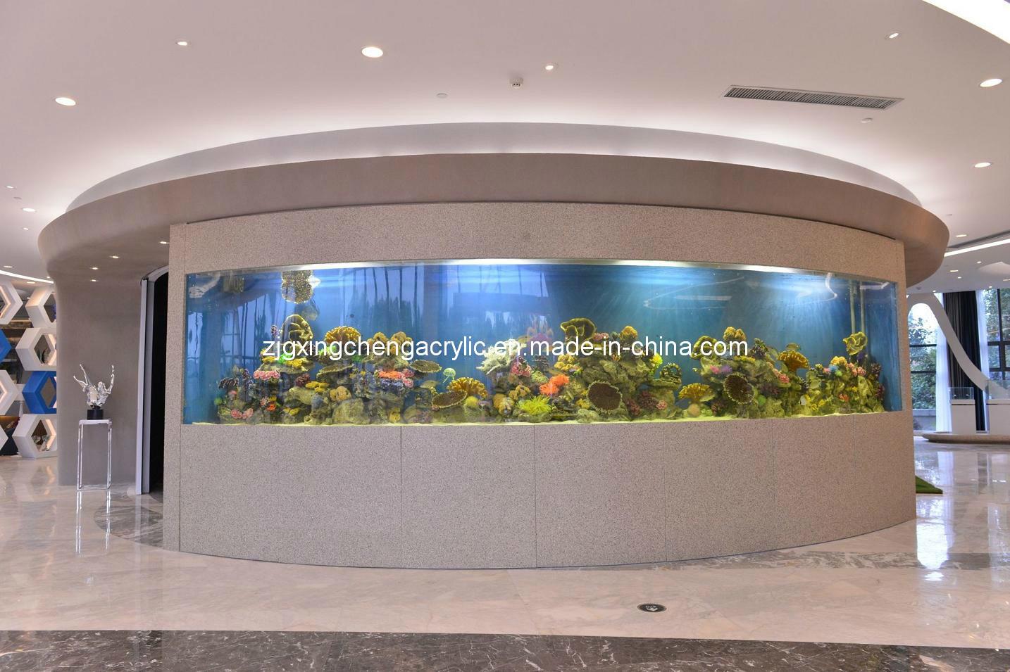 Grand aquarium acrylique rond acrylique des poissons tank for Aquarium rond prix
