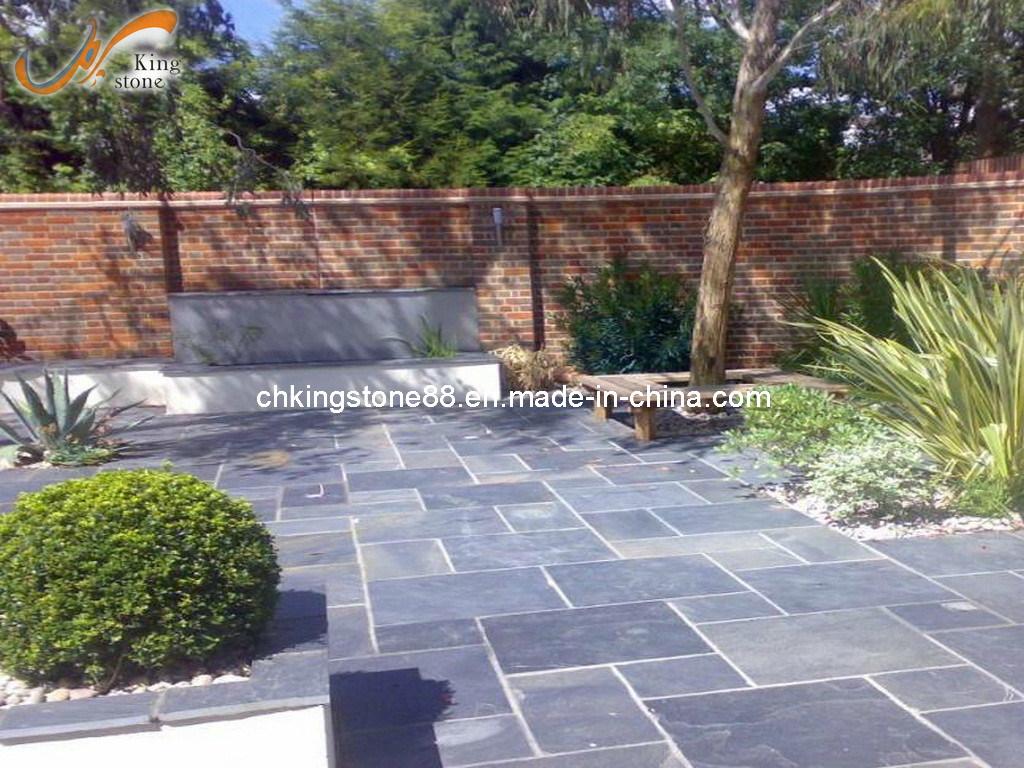 Azulejos de piso naturales de la pizarra usados en jard n for Pizarra para jardin