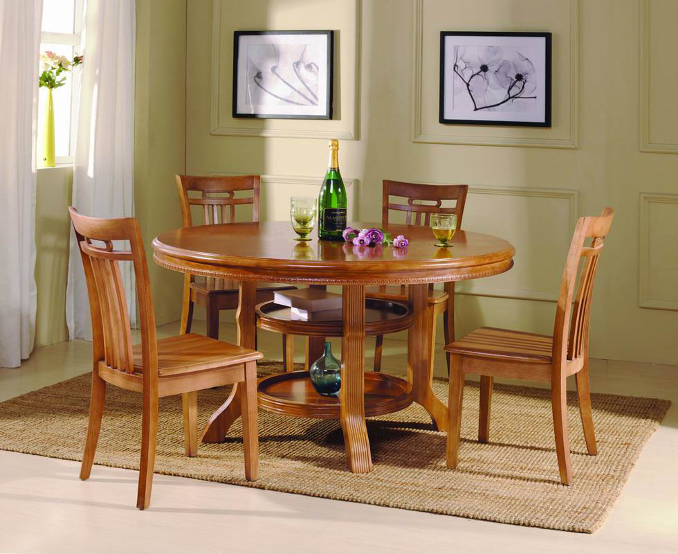 Tabla de madera tabla de cena muebles del comedor t882 for Muebles de comedor en madera