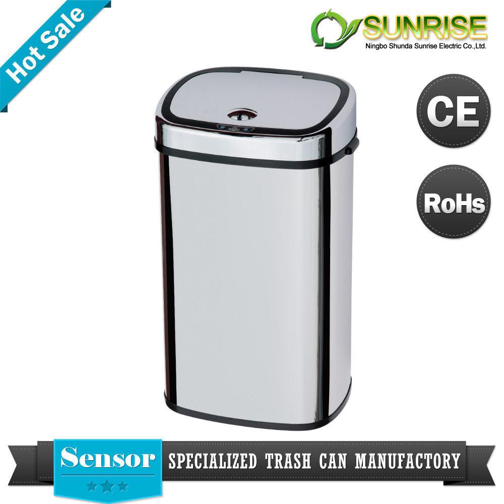 Colorear el cubo de basura grande del sensor de acero sd - Cubo de basura con sensor ...