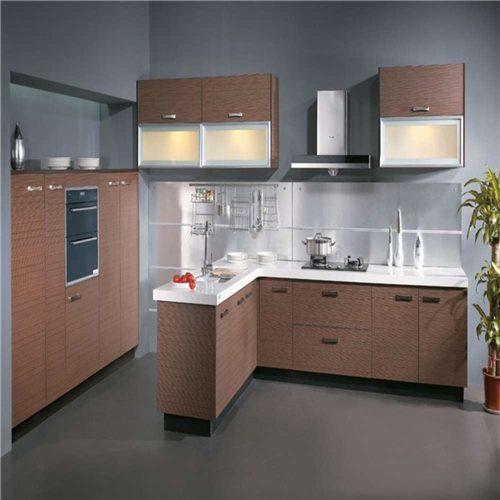 Foto de modular moderna de melamina gabinete de cocina en for Gabinetes de cocina en melamina