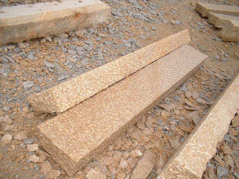 Piedra del bordillo del granito piedra de la palizada for Piedra para granito