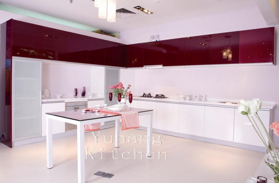 Cabinet de cuisine cuit au four de peinture m l98 for Peinture pour cuisine laquee