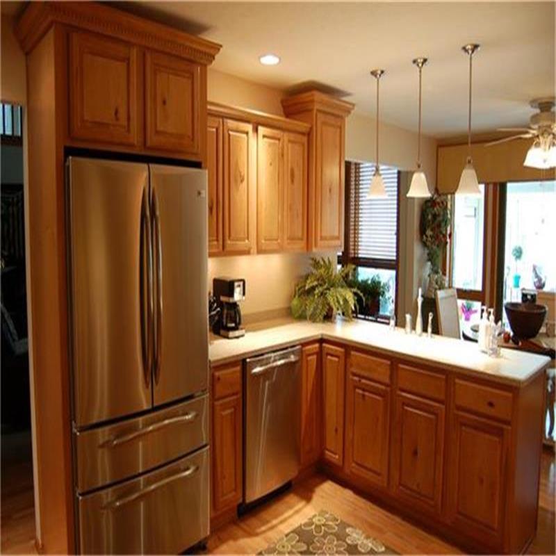 Madera s lida del gabinete de cocina con dise os moder for Estilos de gabinetes de cocina