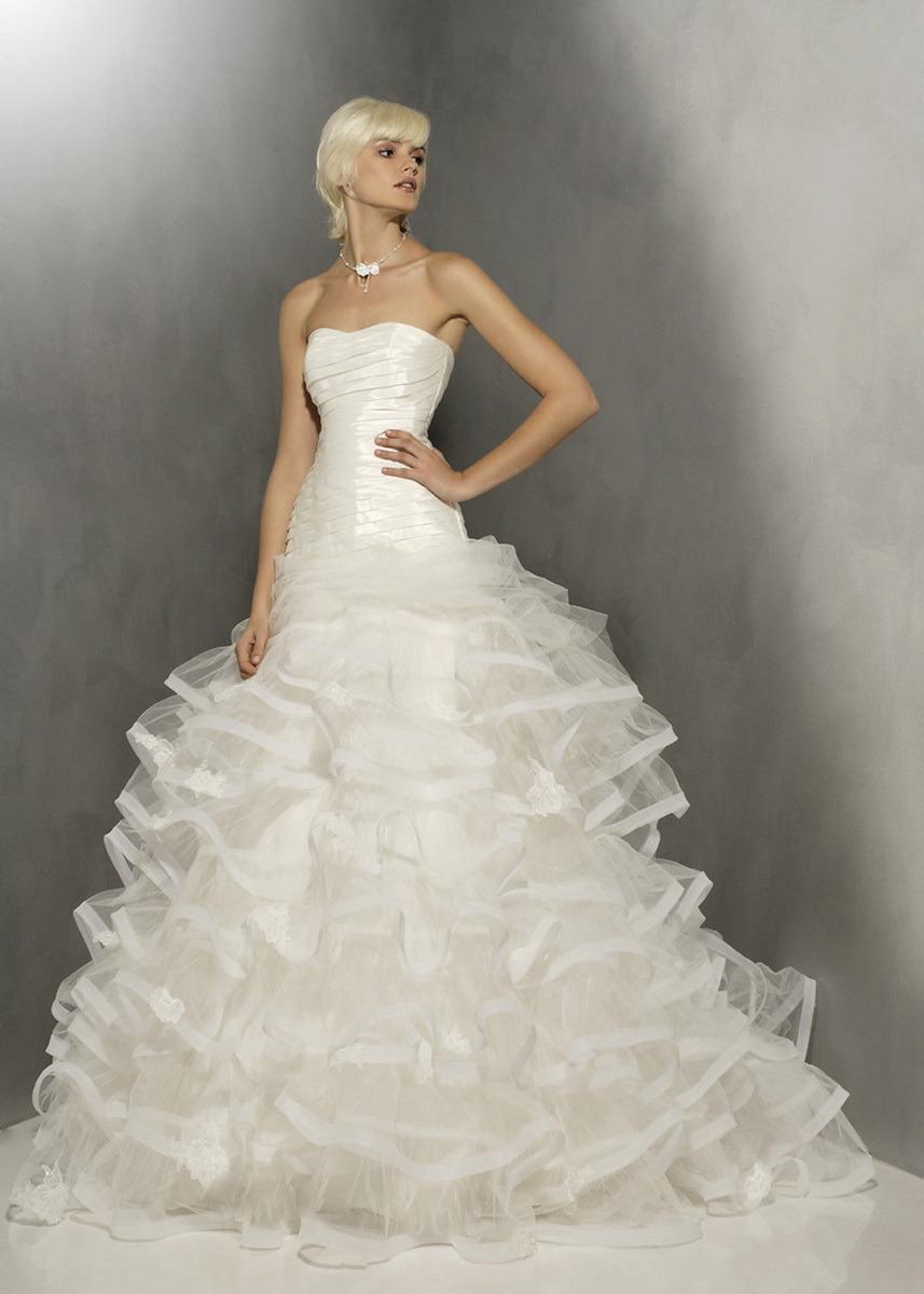 Robe de mariage sans bretelles d 39 organza de robe de boule for Robes sans bretelles pour les mariages