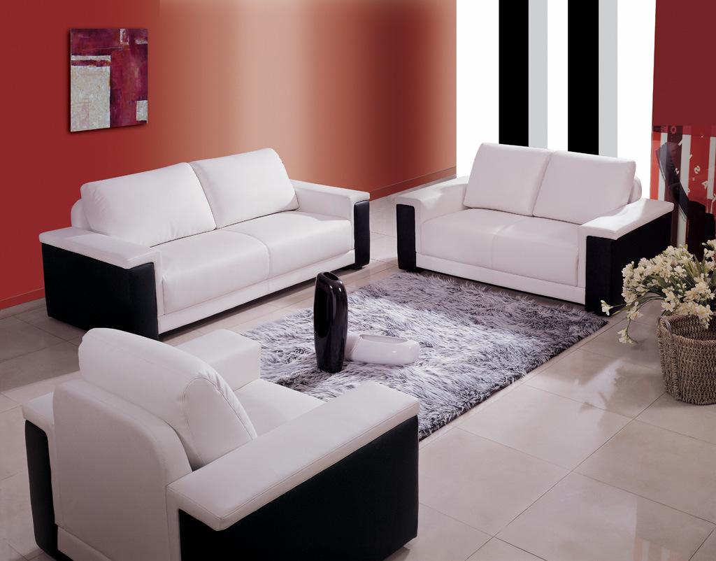 sof blanco y negro del cuero del color es8029 sof blanco y negro del cuero del color es8029 proporcionado por eager international company limited a