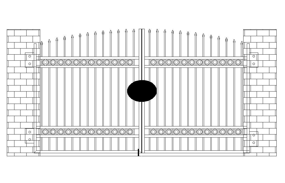 Disegno della griglia del cancello (HH-MC-01) ? Disegno della ...
