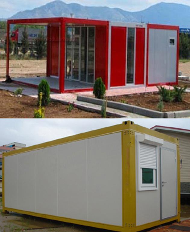 Modernes beh lter haus fertigvilla prefabricated modular for Modernes containerhaus