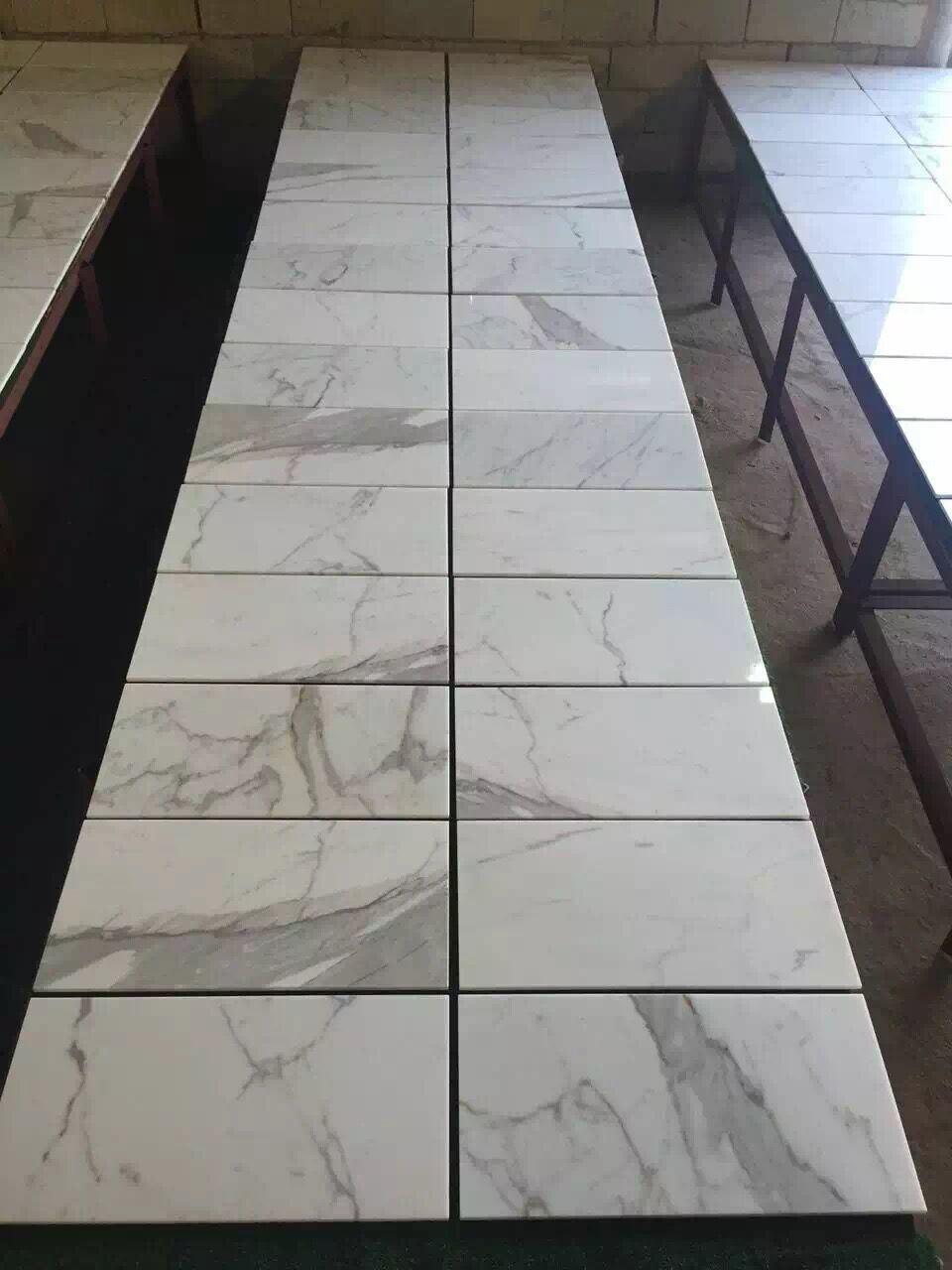 Par Marble Floor : Tuiles de marbre en pierre normales blanches calacatta
