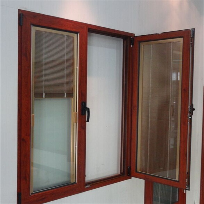 Casement di alluminio window con blinds inside design for Best blinds for casement windows