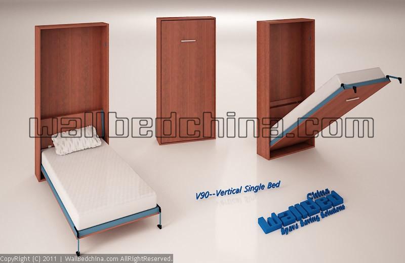 Unidad de la cama de la pared v90 unidad de la cama de - Hacer cama plegable pared ...