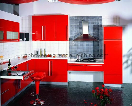 Laca elevada lustrosaMattarmário de cozinha pintado BEL070 da laca do MDF  # Armario De Cozinha Bel Air