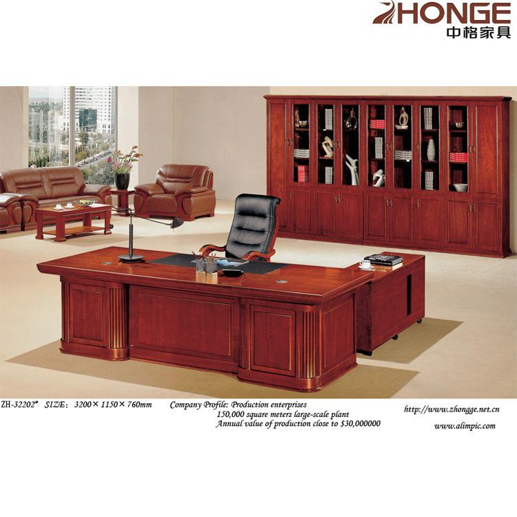 Escritorio ejecutivo de la oficina de madera zh 32202 - Escritorios rusticos de madera ...