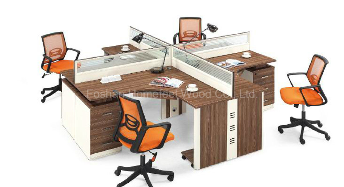 bureau de personnel de m lamine de 4 personnes tableau bureau de particules poste de travail de. Black Bedroom Furniture Sets. Home Design Ideas