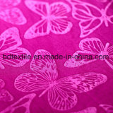 Classic Butterfly Pattern Peach Finished Embossed Velvet Fabric