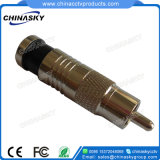 CCTV Male Compression RCA Connector for Rg59 Cable (CT5082/RG59)