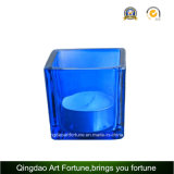 Glass Cube Votive Candle Holder for Home Decor