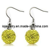 Stainless Steel Shamballa Fish Hook Earrings