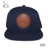 Custom Leather Patch 5 Panel Snapback Hats