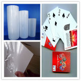 0.5mm Porker Playing Card Offset Rigid Glossy White PVC Sheet