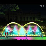 Colorful Oblong Musical Water Fountain