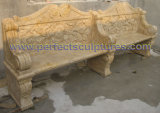 Antique Stone Marble Garden Bench for Garden Ornament (QTC070)