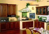 Solid Wood Kitchen Cabinet Wooden Kitchen Cabinet (JX-KCSW009)