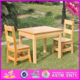 2016 Wholesale Wooden Kids Table and Chairs, Natural Wooden Kids Table and Chairs, Best Wooden Kids Table and Chairs W08g172