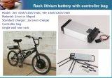 CE Approved 48V 15ah Lithium Battery Pack for E-Bike
