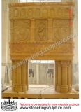 Hand Carved Marble Fireplace for Home