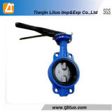 Cast Iron Single Stem Without Pin Handle Lever Butterfly Valve