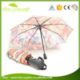 Low MOQ Digital Printing 3 Fold Umbrella for Promotional Advertising